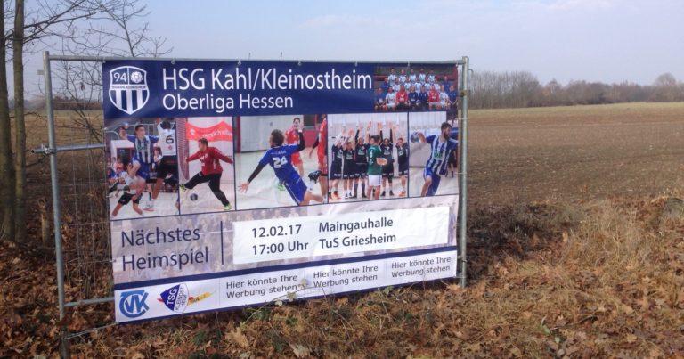 Neues Banner schmückt Kleinostheimer Ortseingang