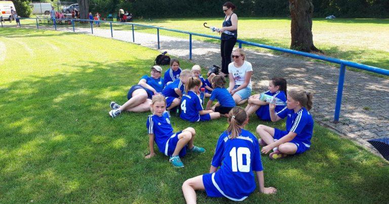 Weibl. E-Jugend: Gelungenes Teambuilding beim Rasenturnier in Klein-Auheim