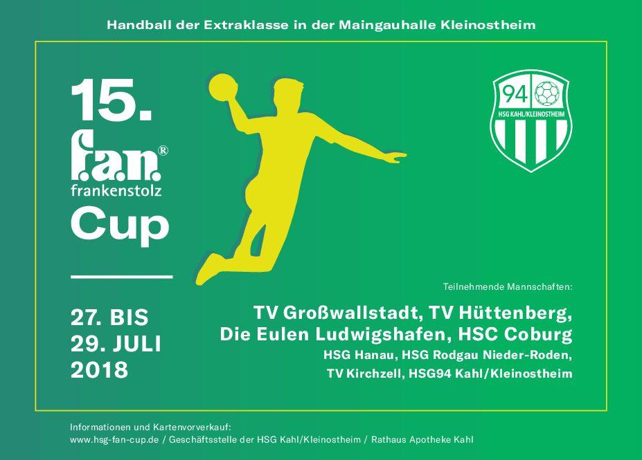 15. f.a.n.-Cup vom 27. Bis 29. Juli 2018 in Kleinostheim